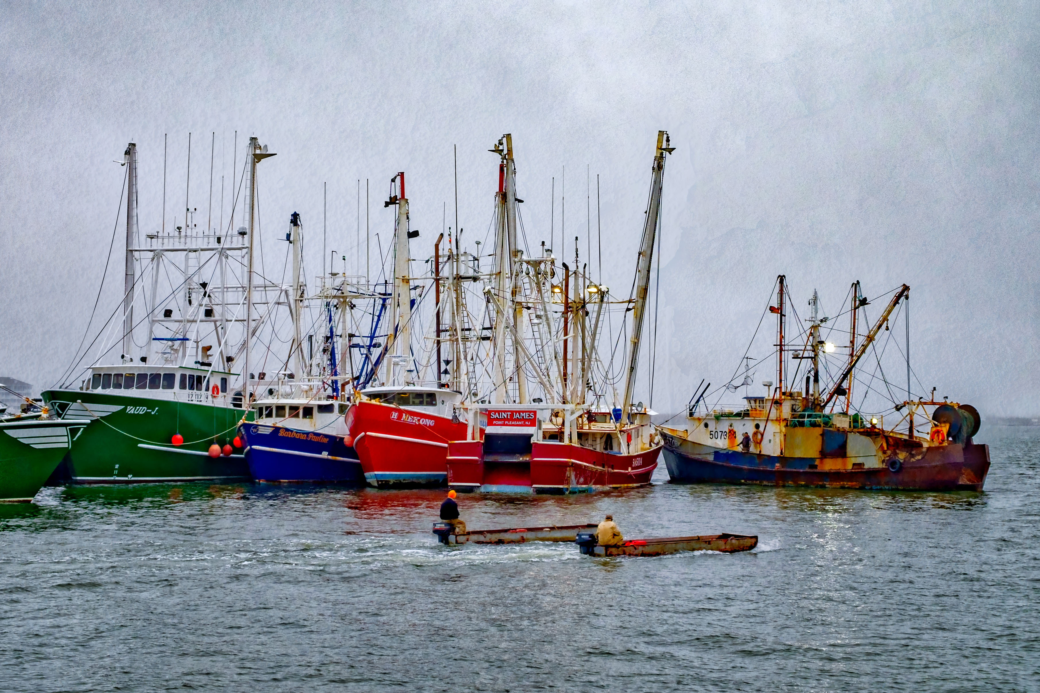 Image of the fishing fleet in Cape May, NJ.