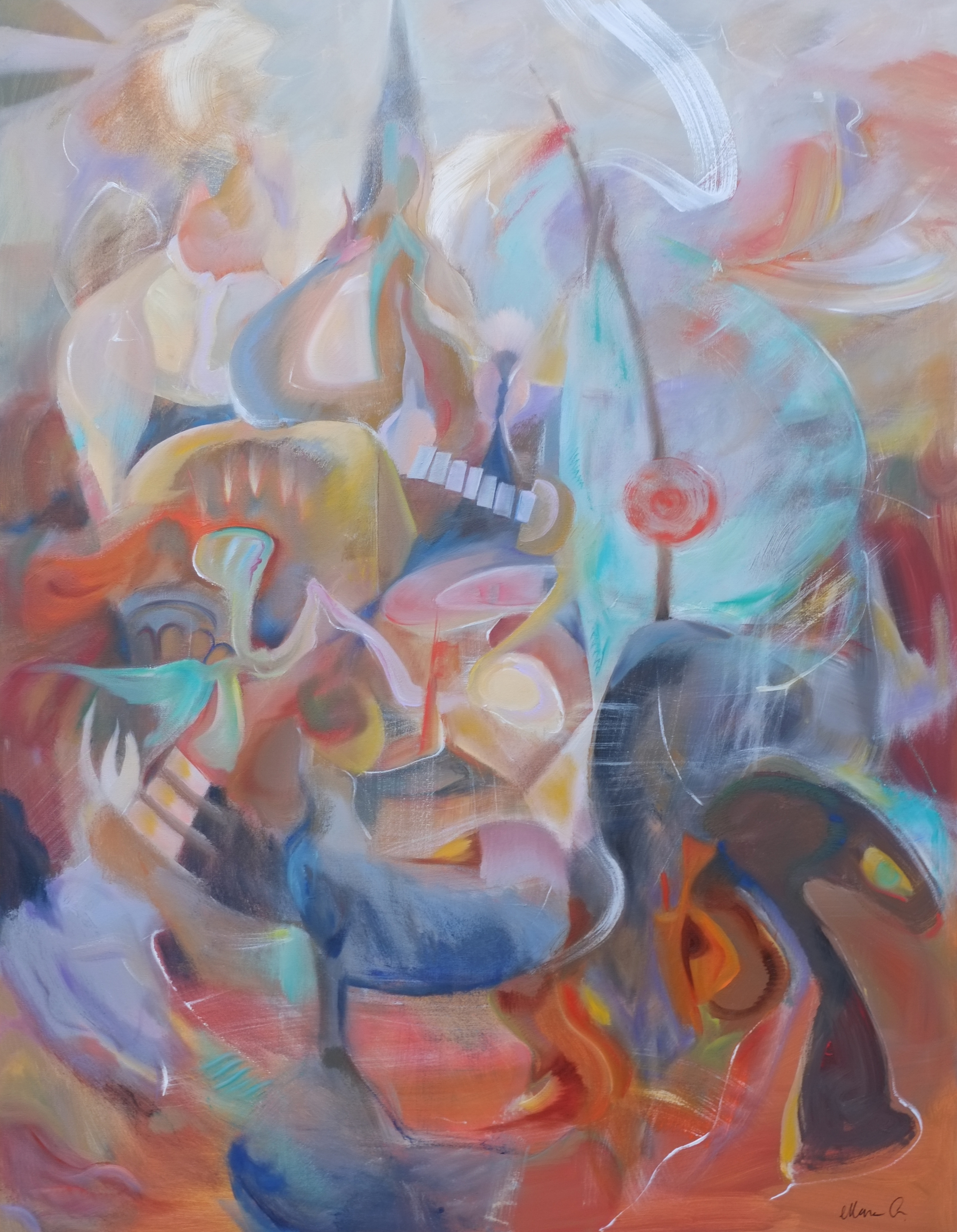 Abstraction with  figurative elements
