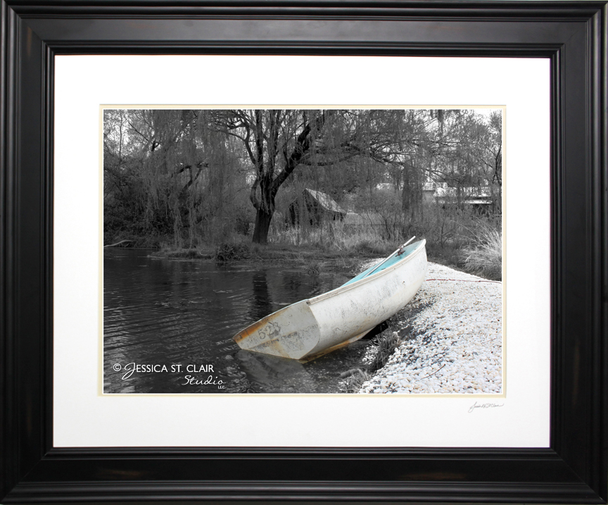 Ashore, mixed media photography and digital art by Jessica St. Clair