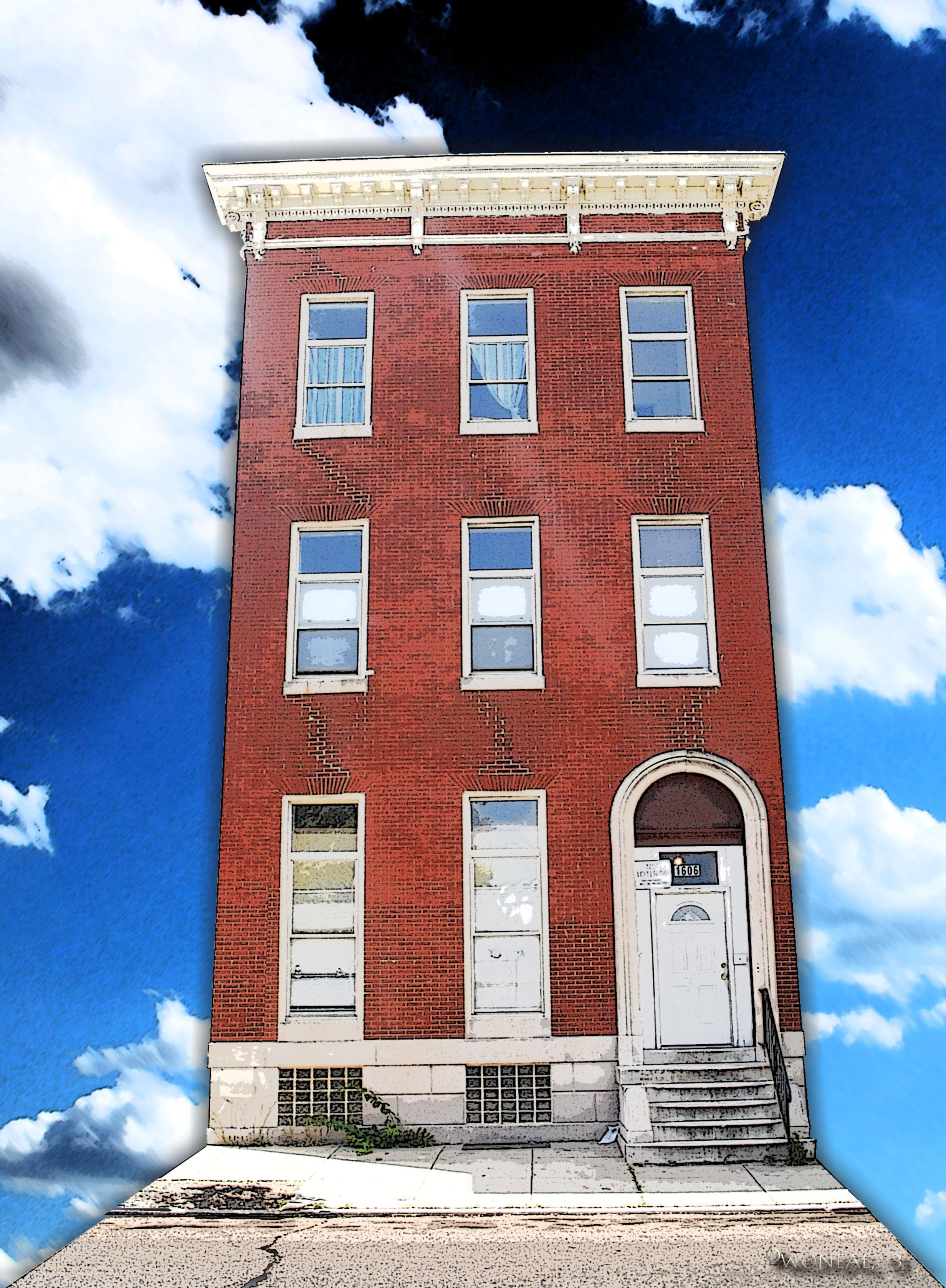 baltimore, houses, row houses, buildings, architecture
