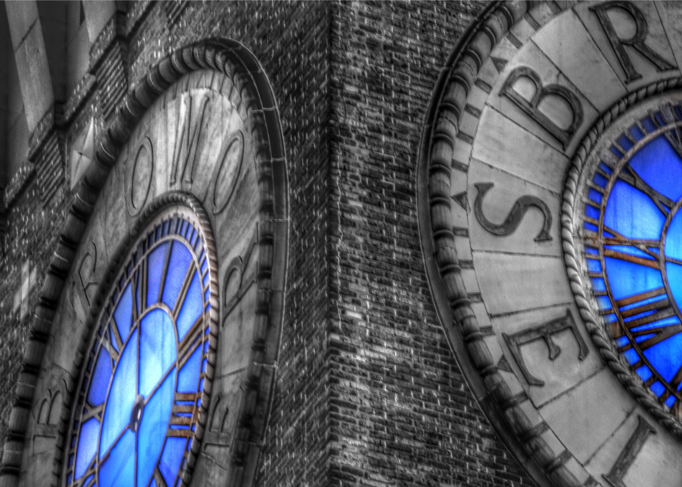 Bromo Seltzer Tower clock face by Marianna Mills