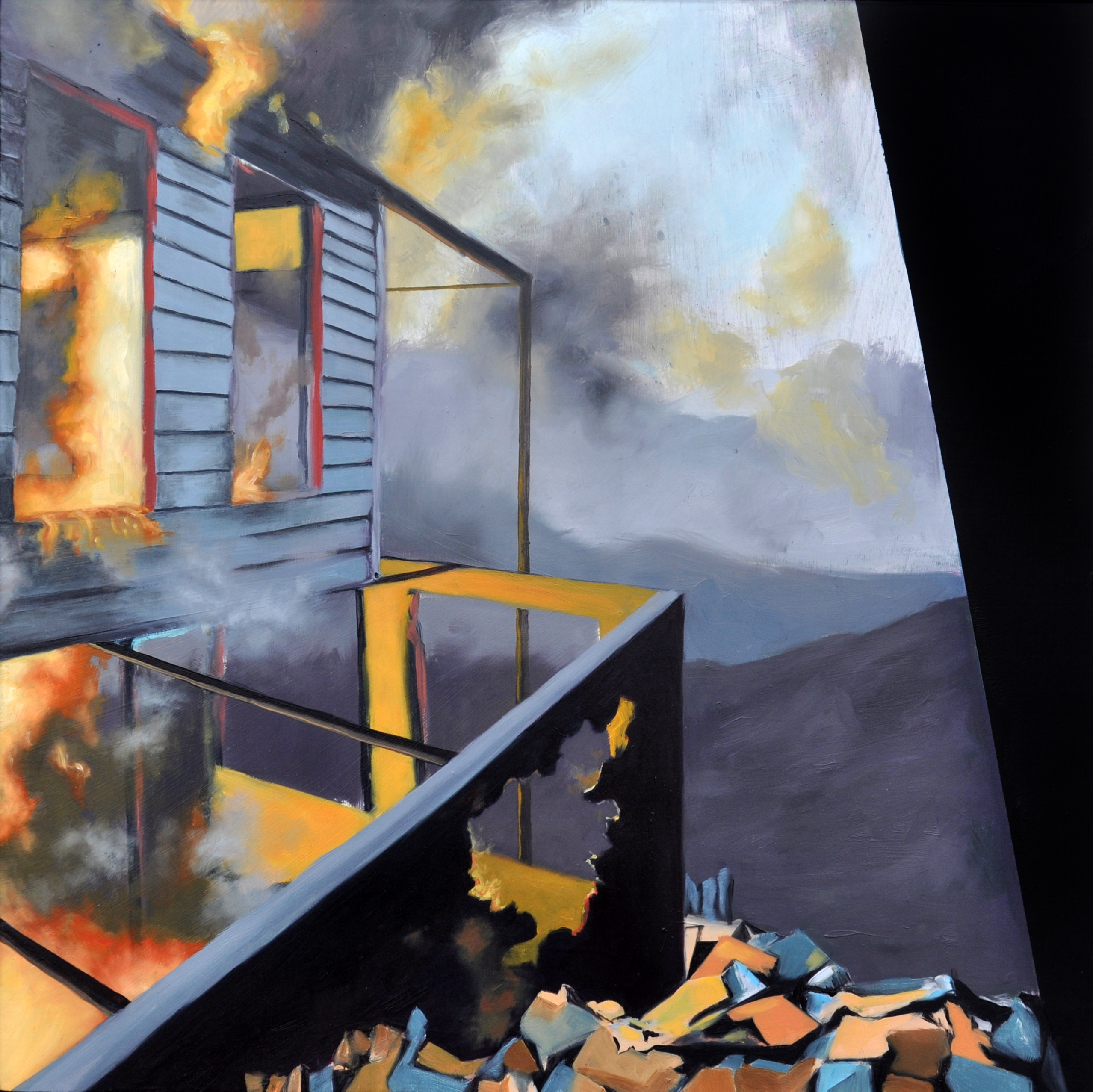 """""""Burning House"""" by Leah Lewman"""