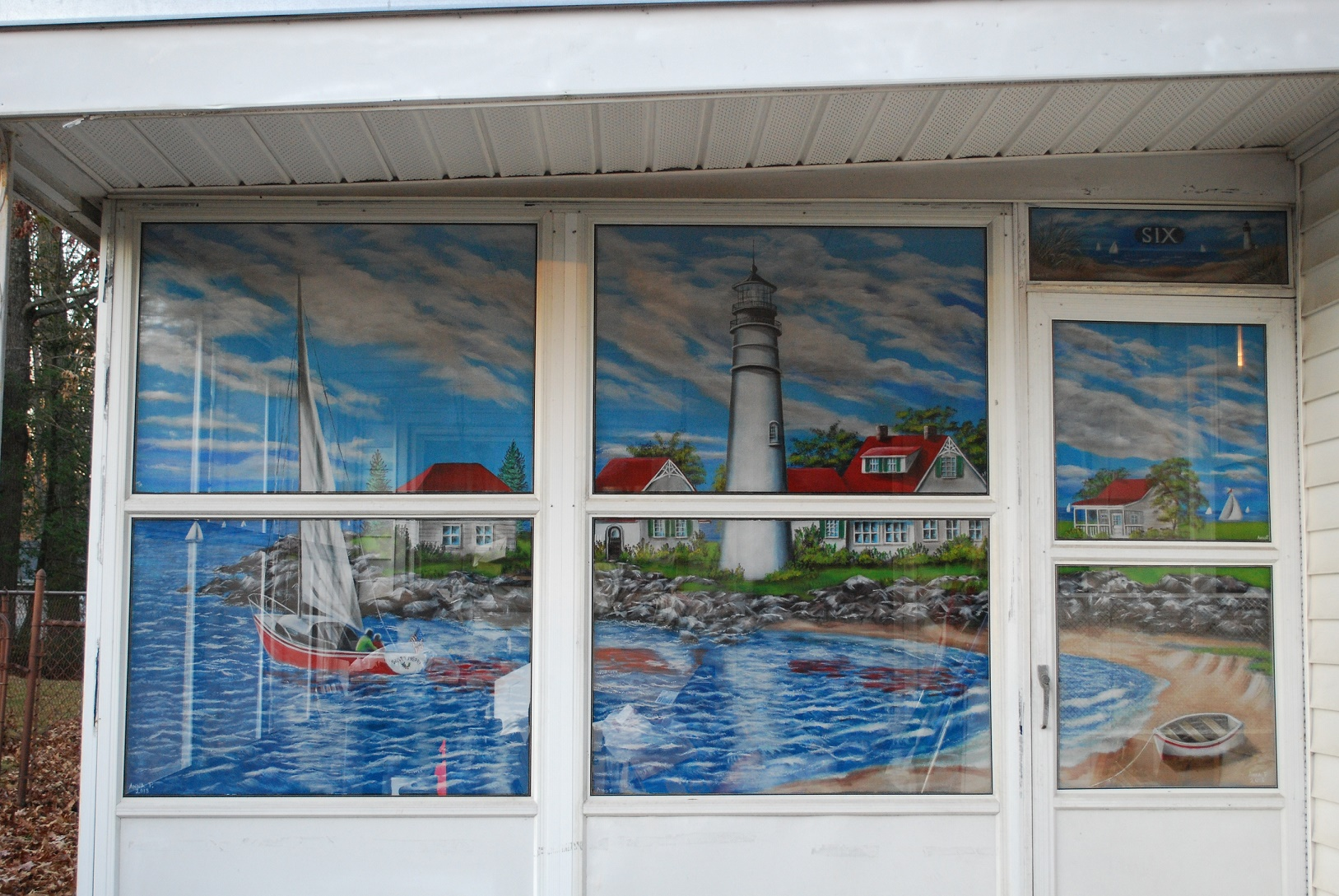 Anna's Painted Screens, Seaside porch screens