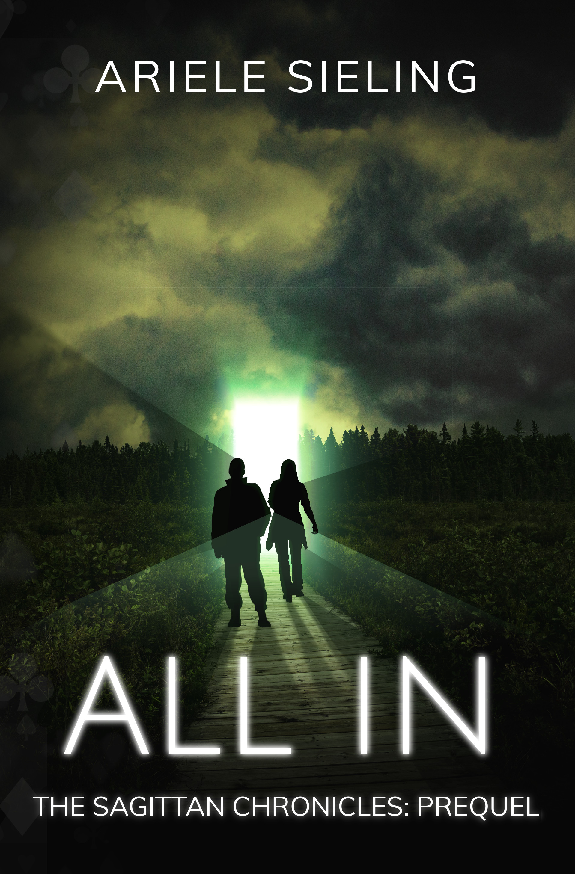 The book cover for All In: A Prequel by Ariele Sieling