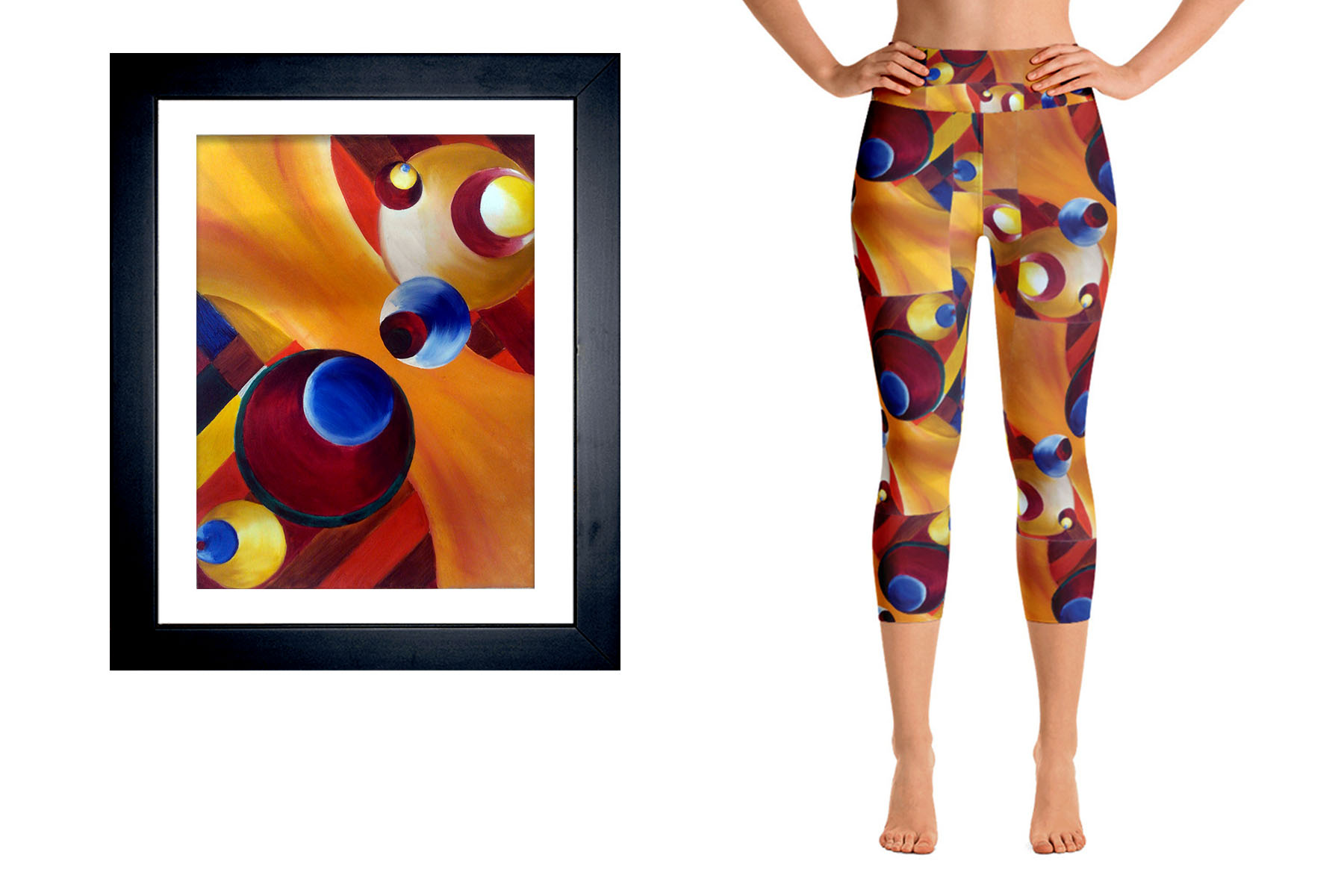 Abstract, Artwork on clothing, Gold, Blue, Red, Yellow
