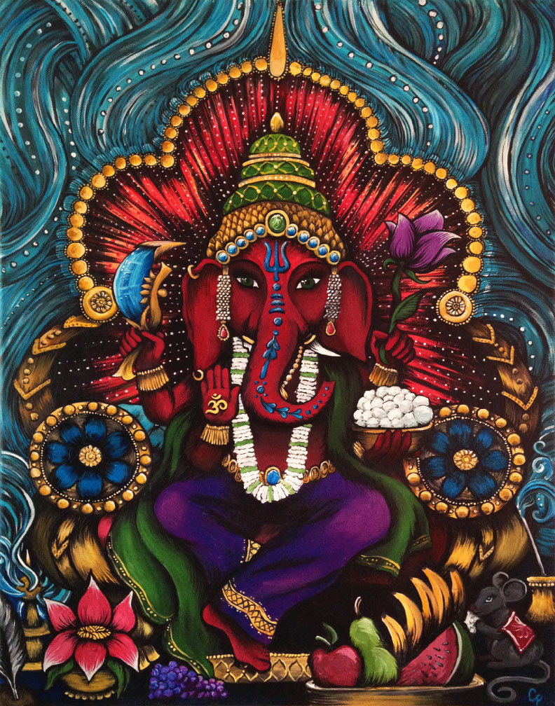 Ganesha Painting by Cat Dolch
