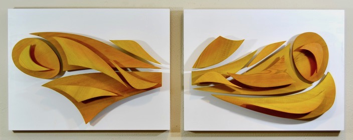 """Genesis"" Diptych by Washington, DC scultpor Alex Kasten"