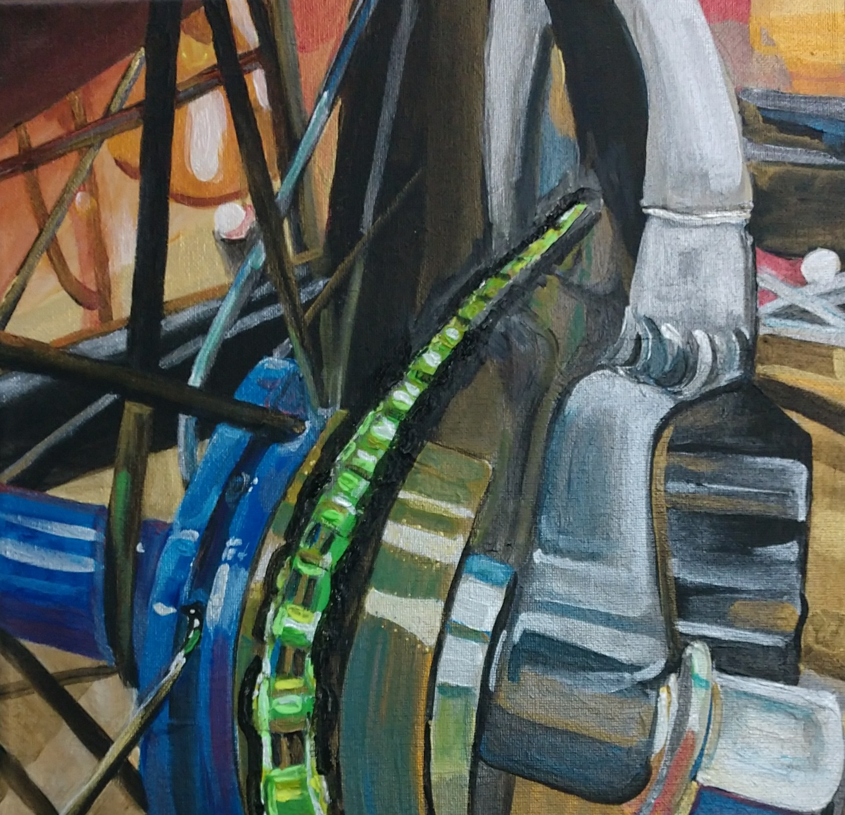 painting of bike