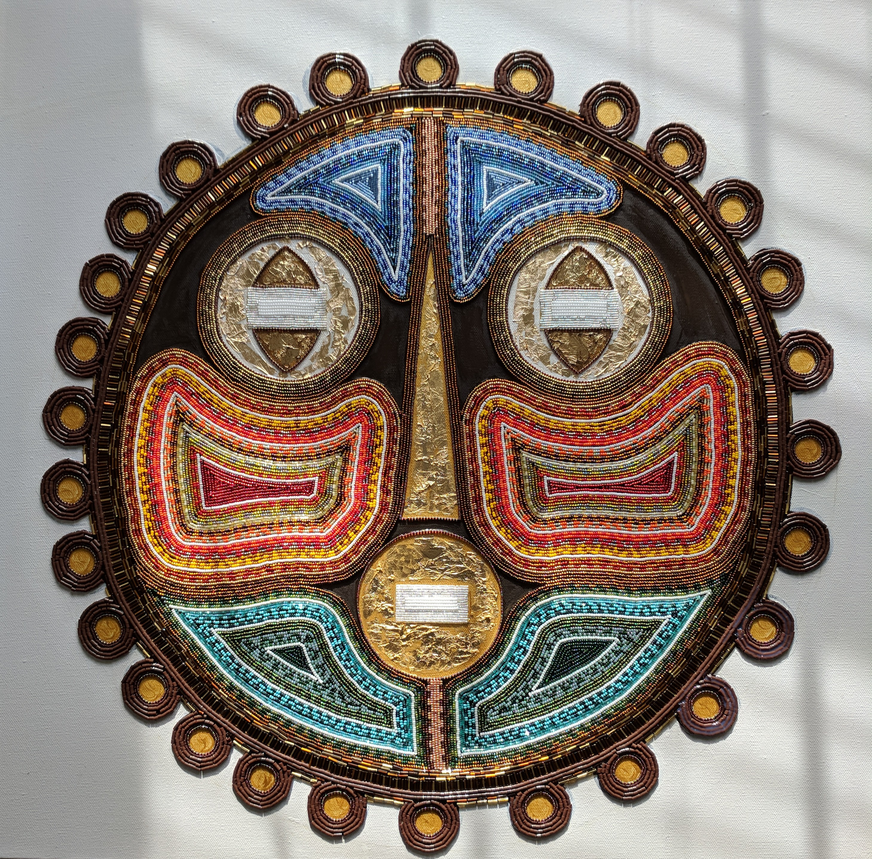 African Mask colorful