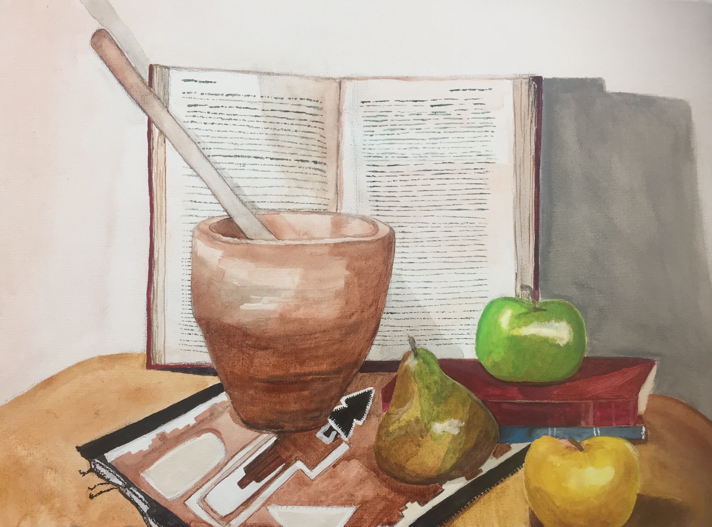 earth tones, still life, undertone painting