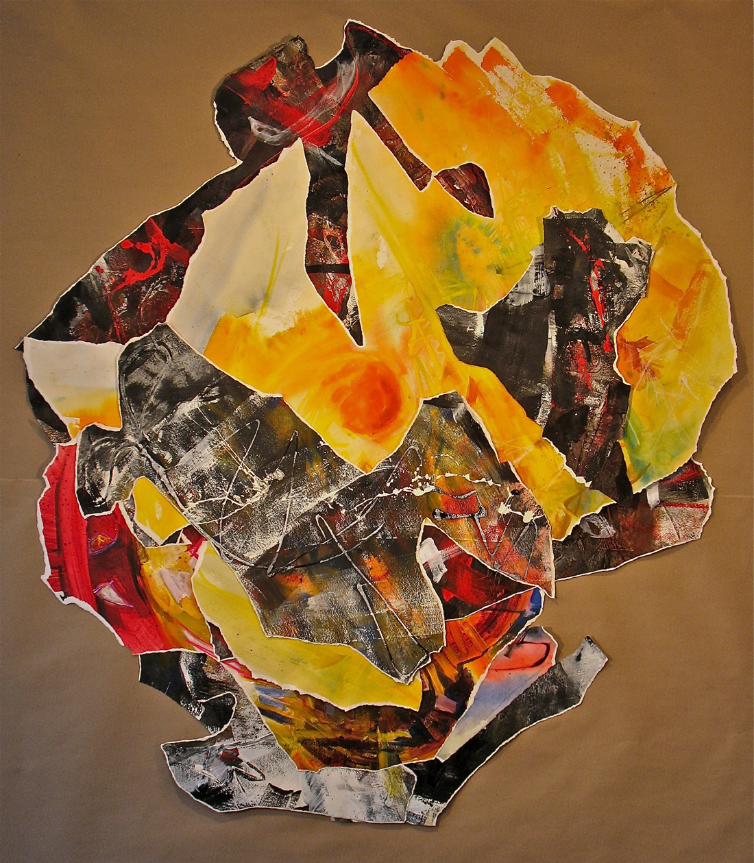Negative Space, collage, mounted on board.
