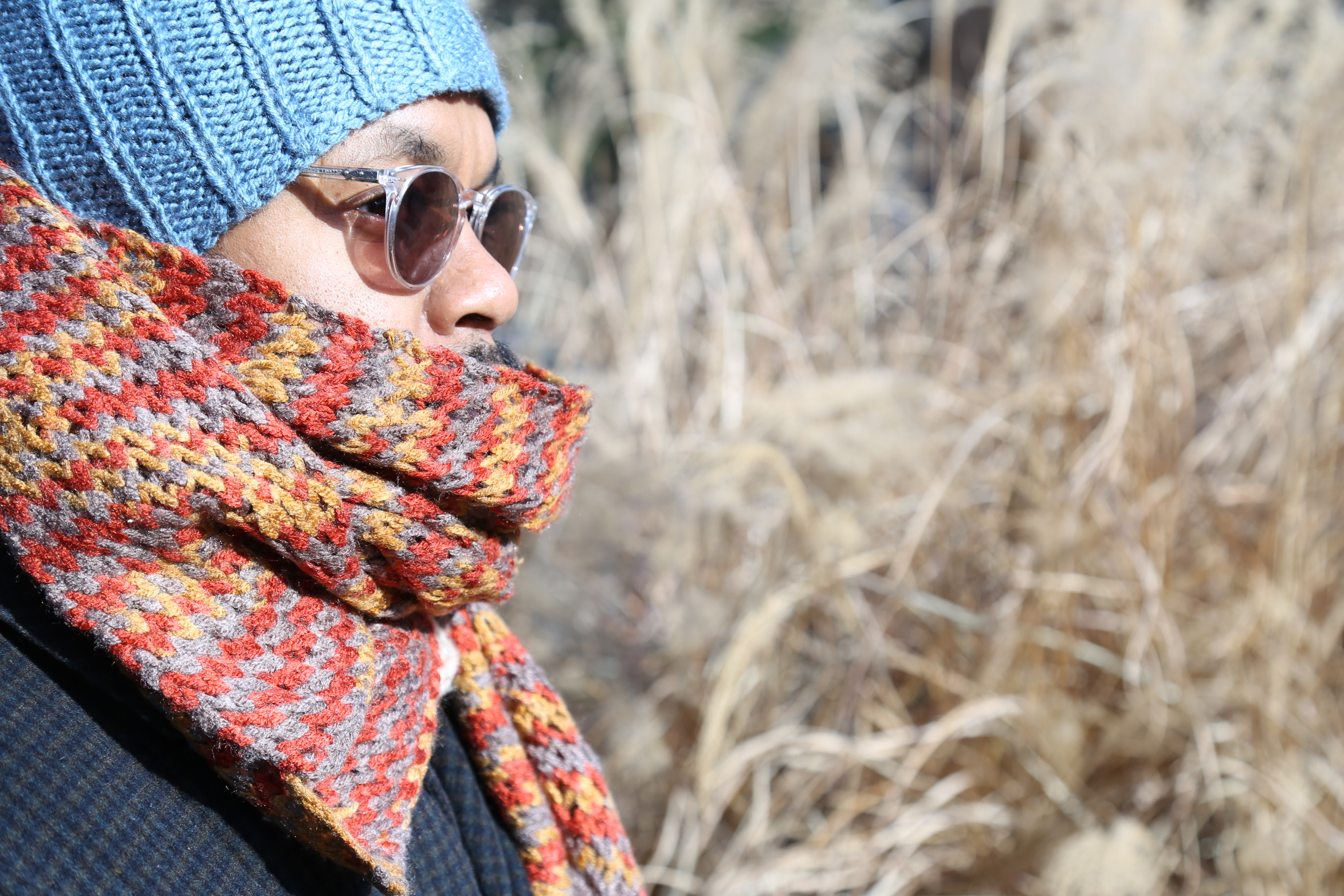 Man in Scarf