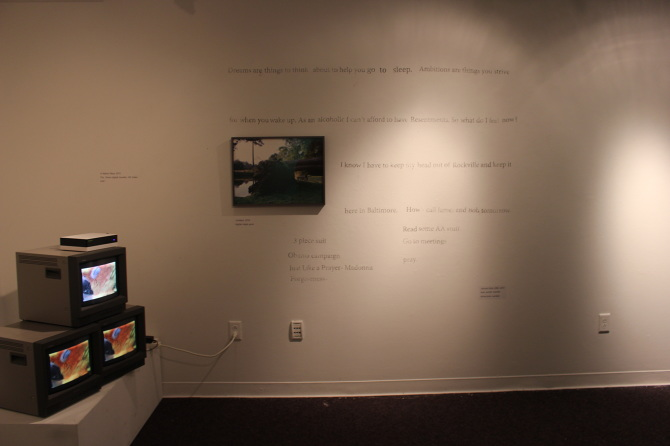 A gallery still of an installation I completed while in-residence at Skidmore College.
