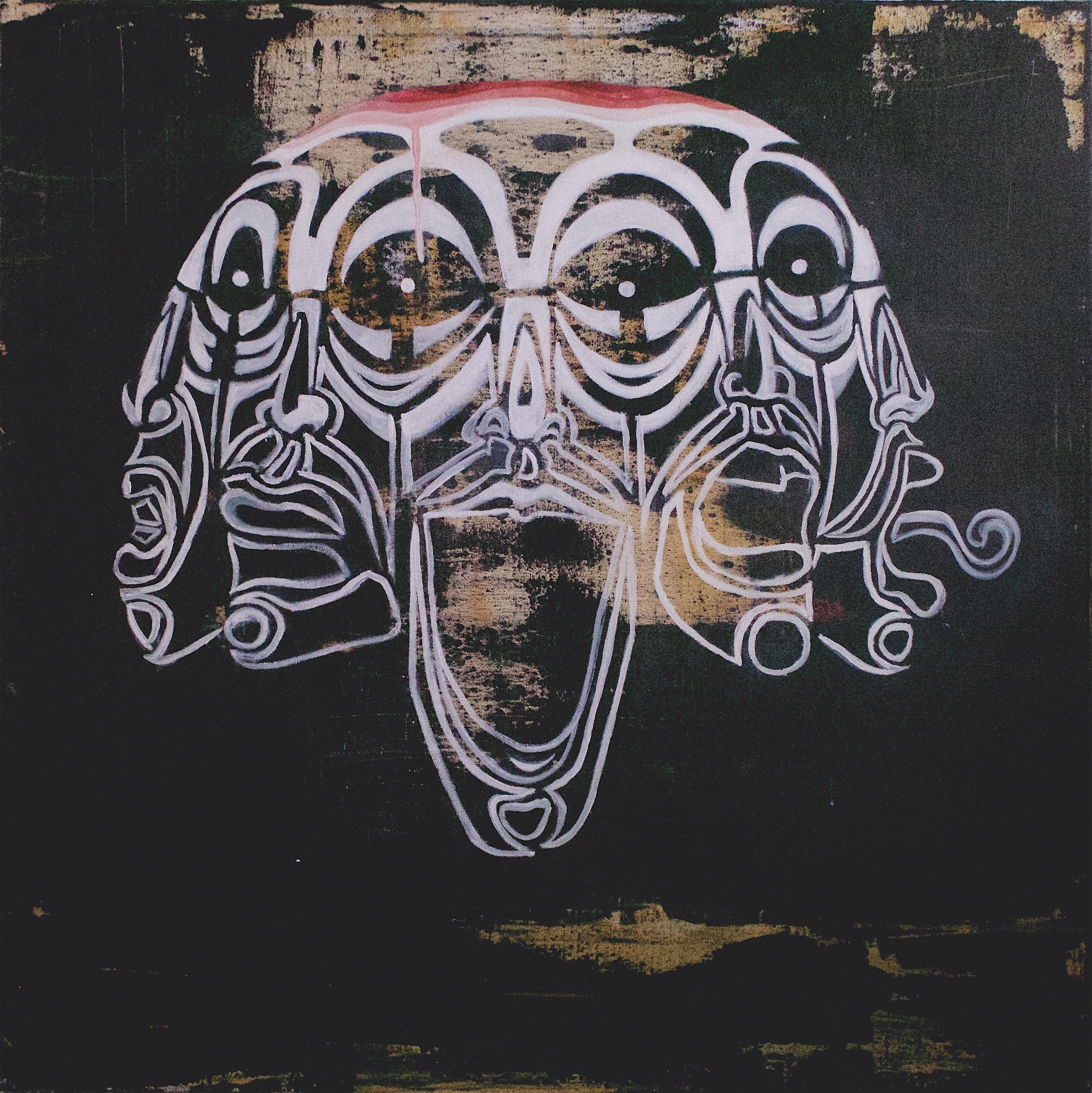 Faces, PAinting,Acrylic, Abstract, symbolism, mask