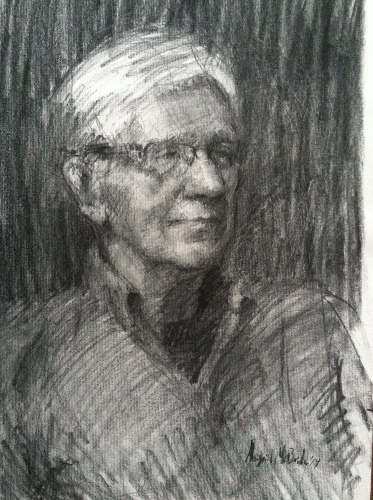 Charcoal Portrait, man by Abigail McBride