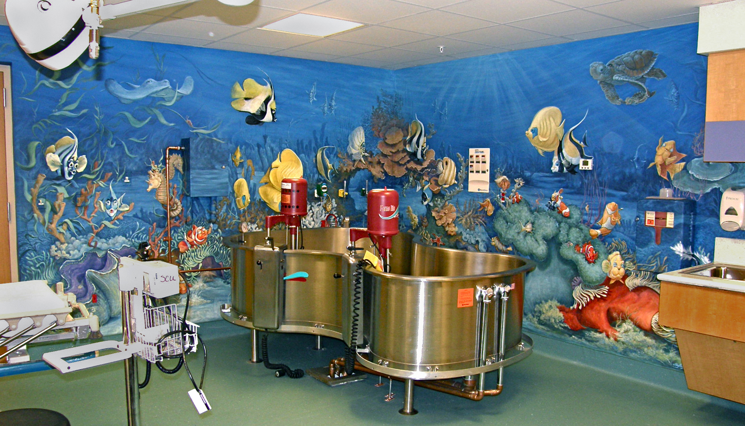 """Under the Sea"" mural- Children's National Medical Center,   9ft  x 28ft"