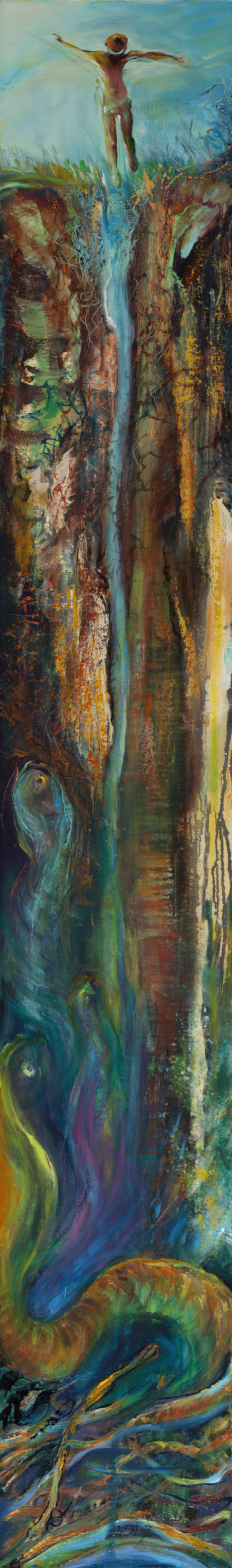oil painting, poetry sourced, remembrance, death, awakening, beauty