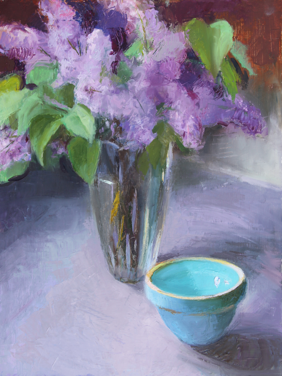 Oil Painting of Lilacs