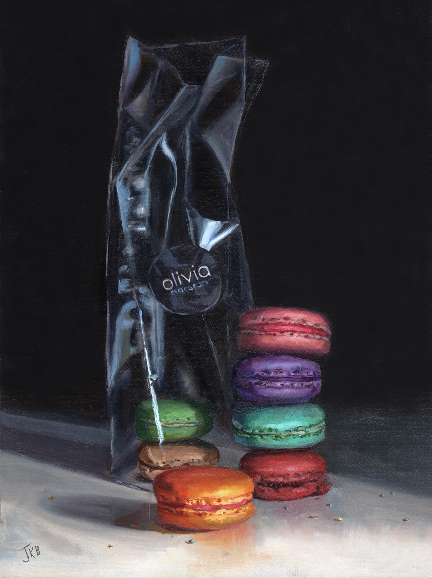 French Macaron Still Life Painting