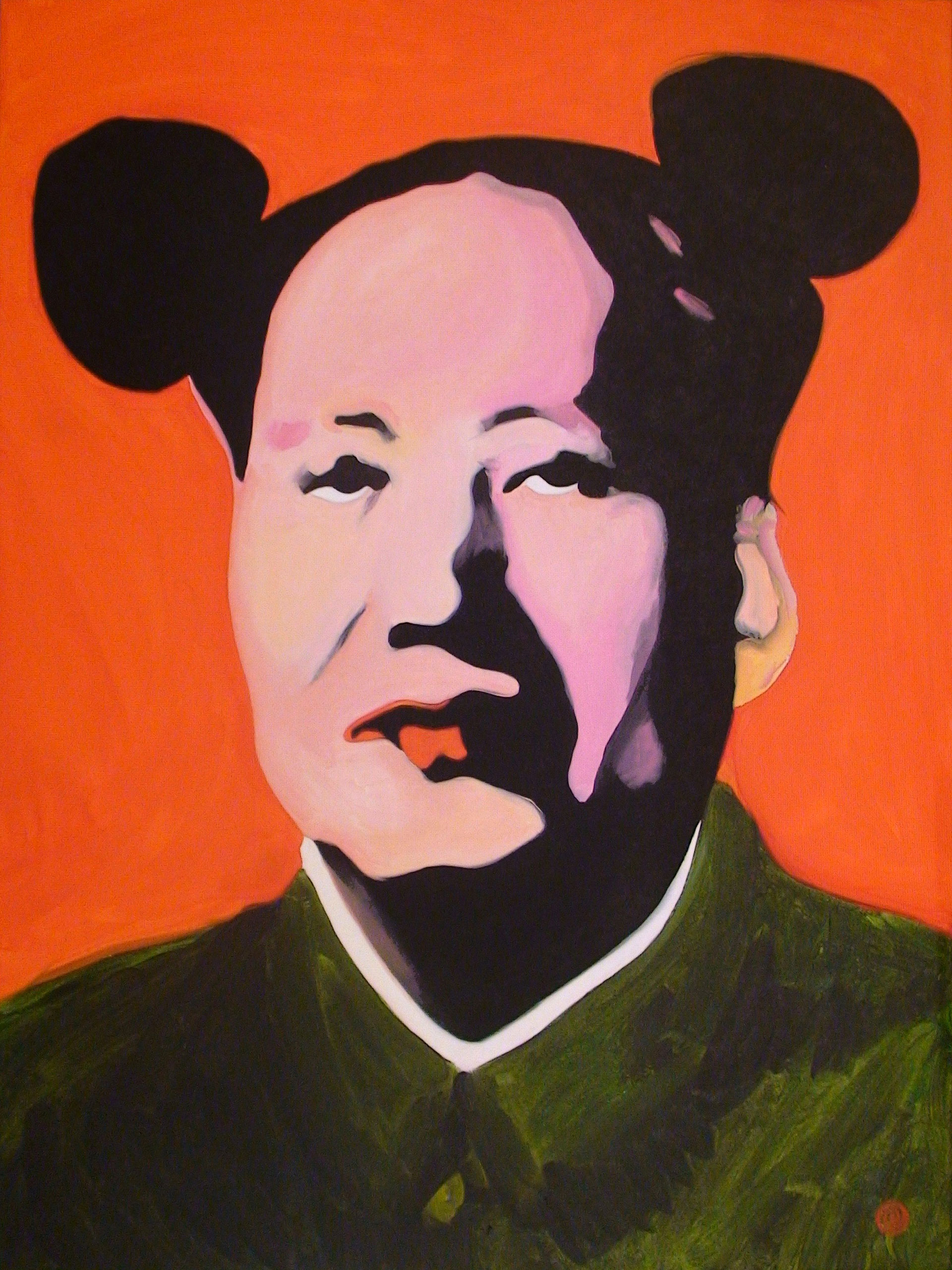 Portrait of Mao Tse-tung with mouse ears