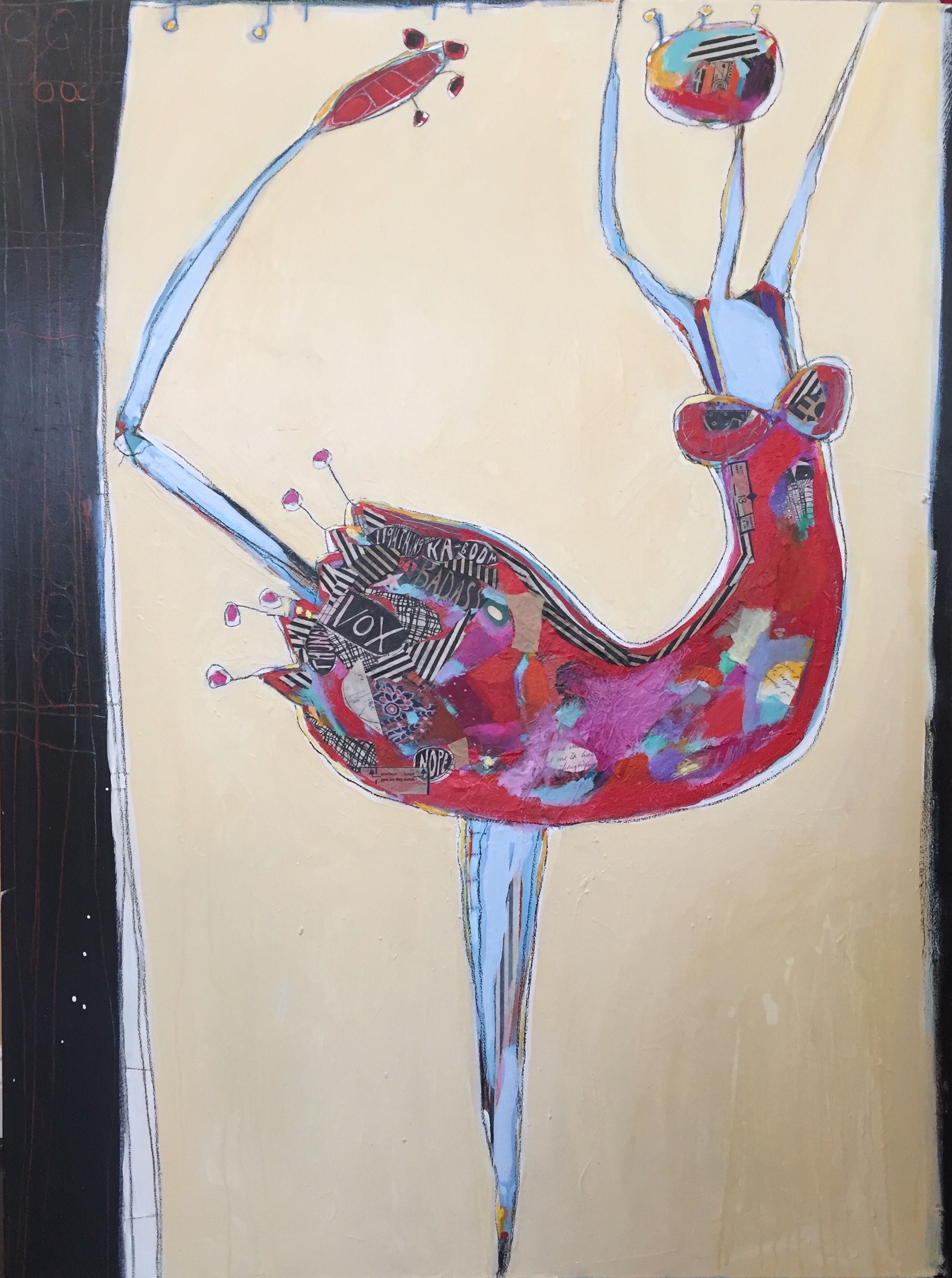 Abstract, Figurative, Mixed Media, Painting, Collage
