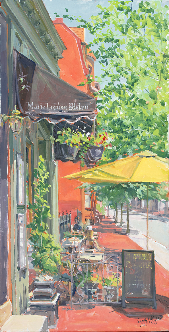 Place of First is a plein Air Oil Painting
