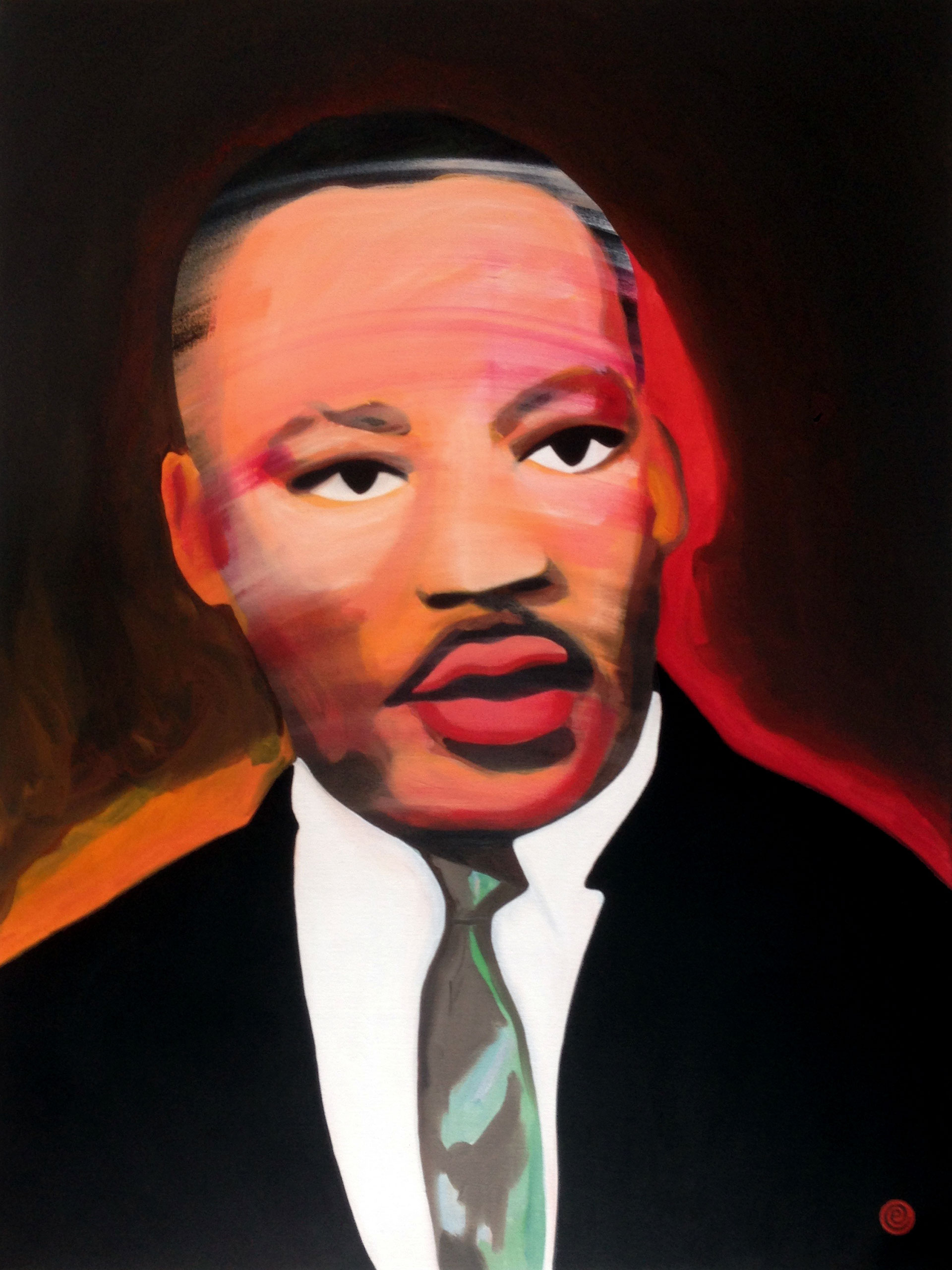Portrait painitng of Martin Luther King