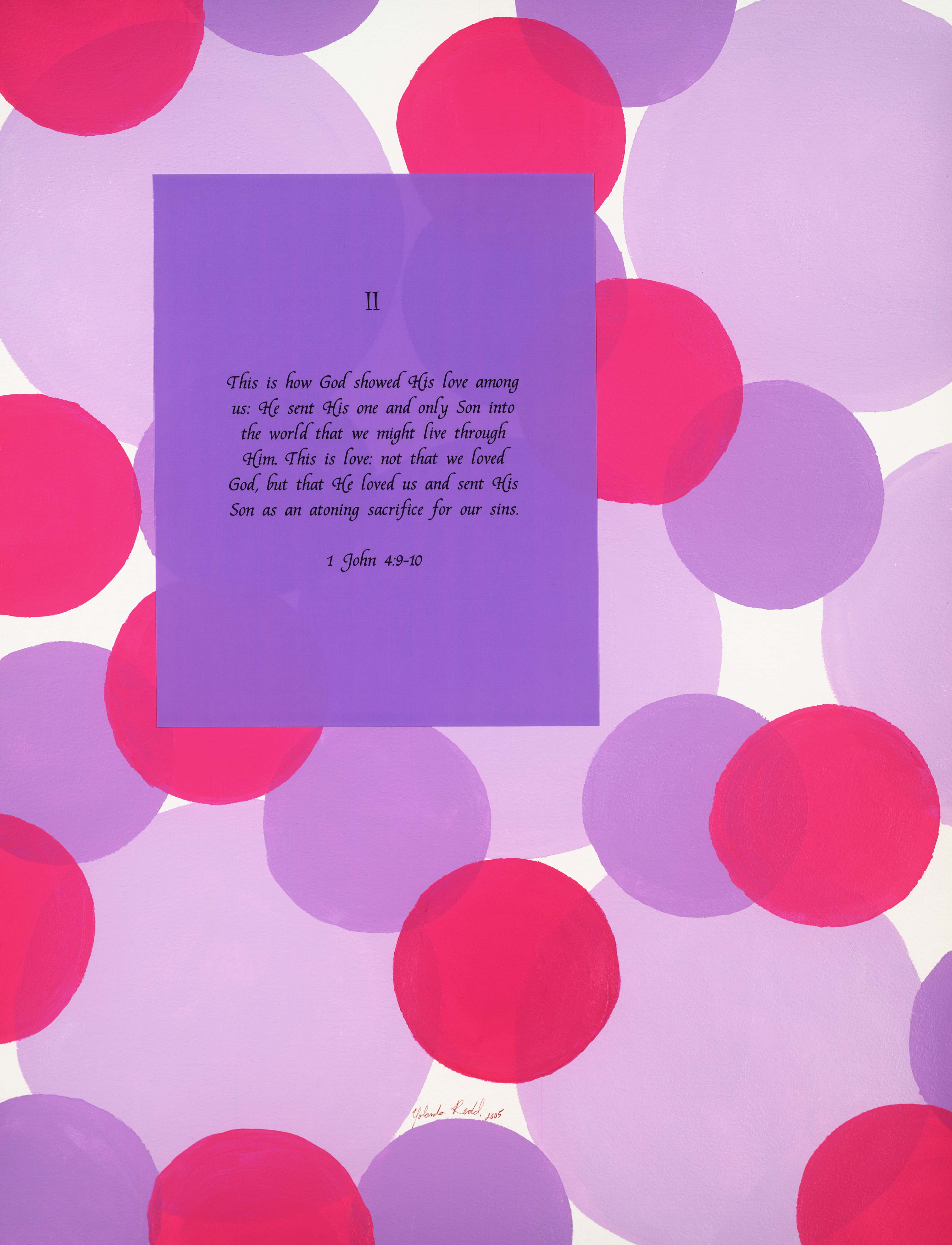 reasons for the cross, purple, lavendar, collage