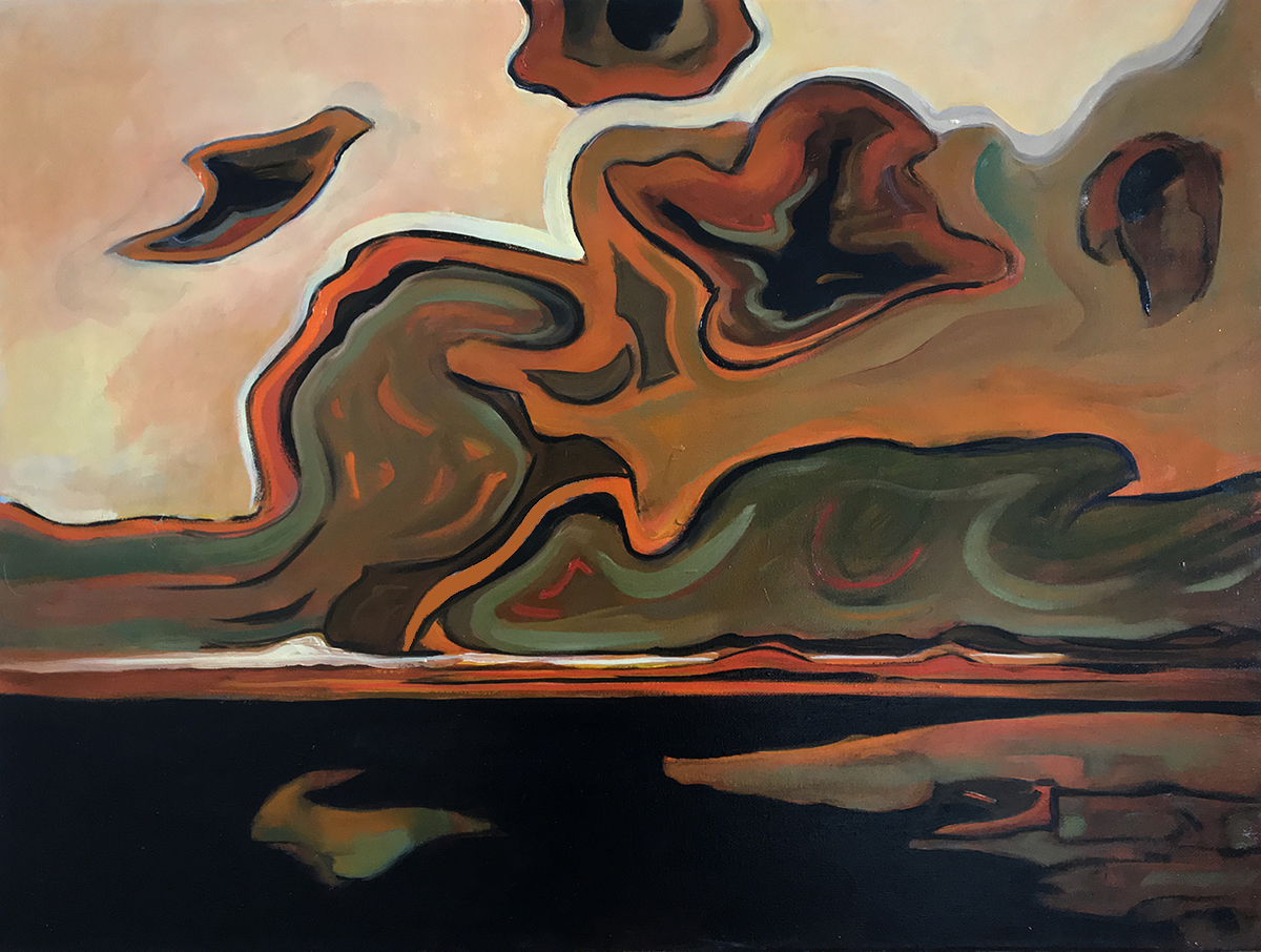 Abstracted Clouds and Sea