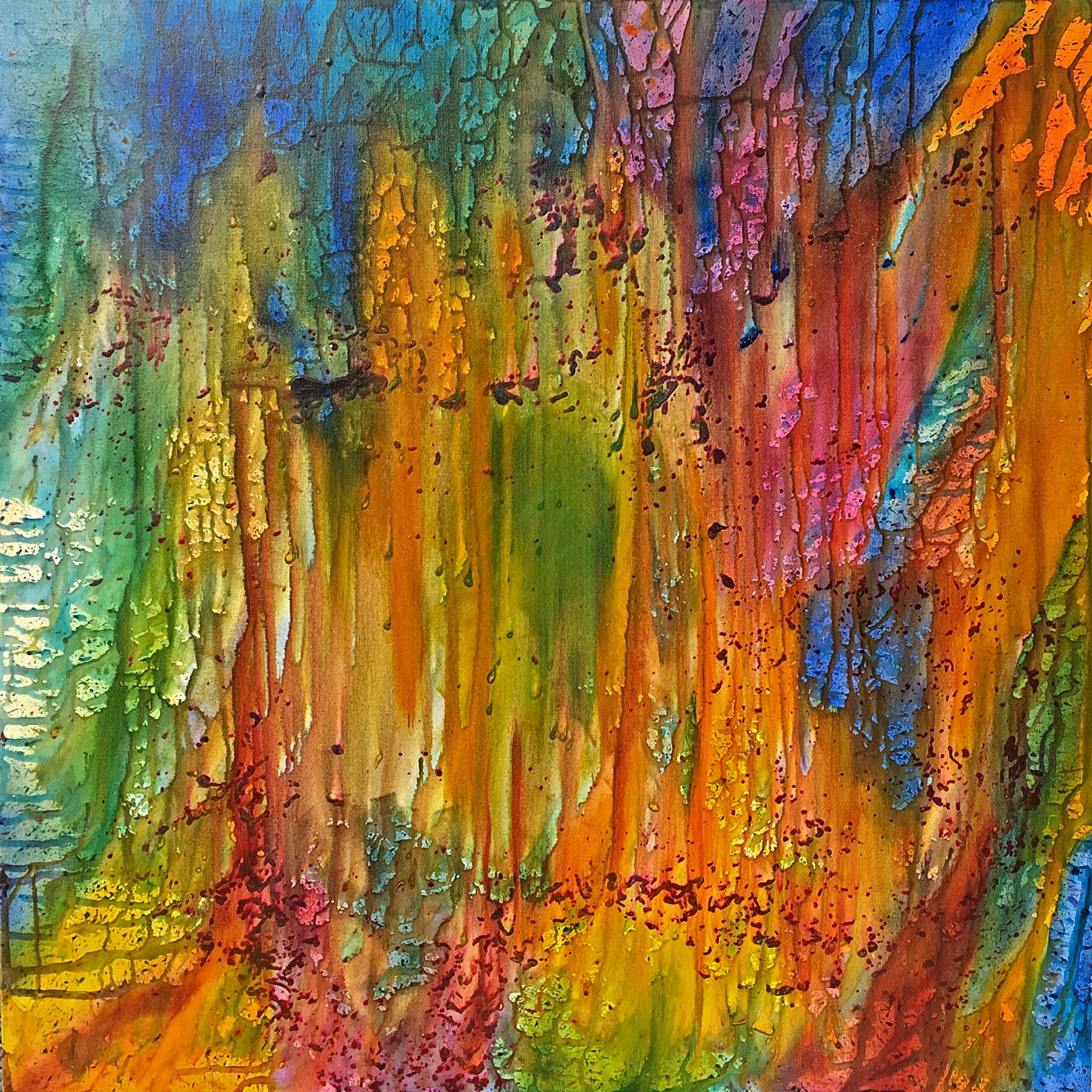 Ventotene Abstract Expressionist Oil on Canvas