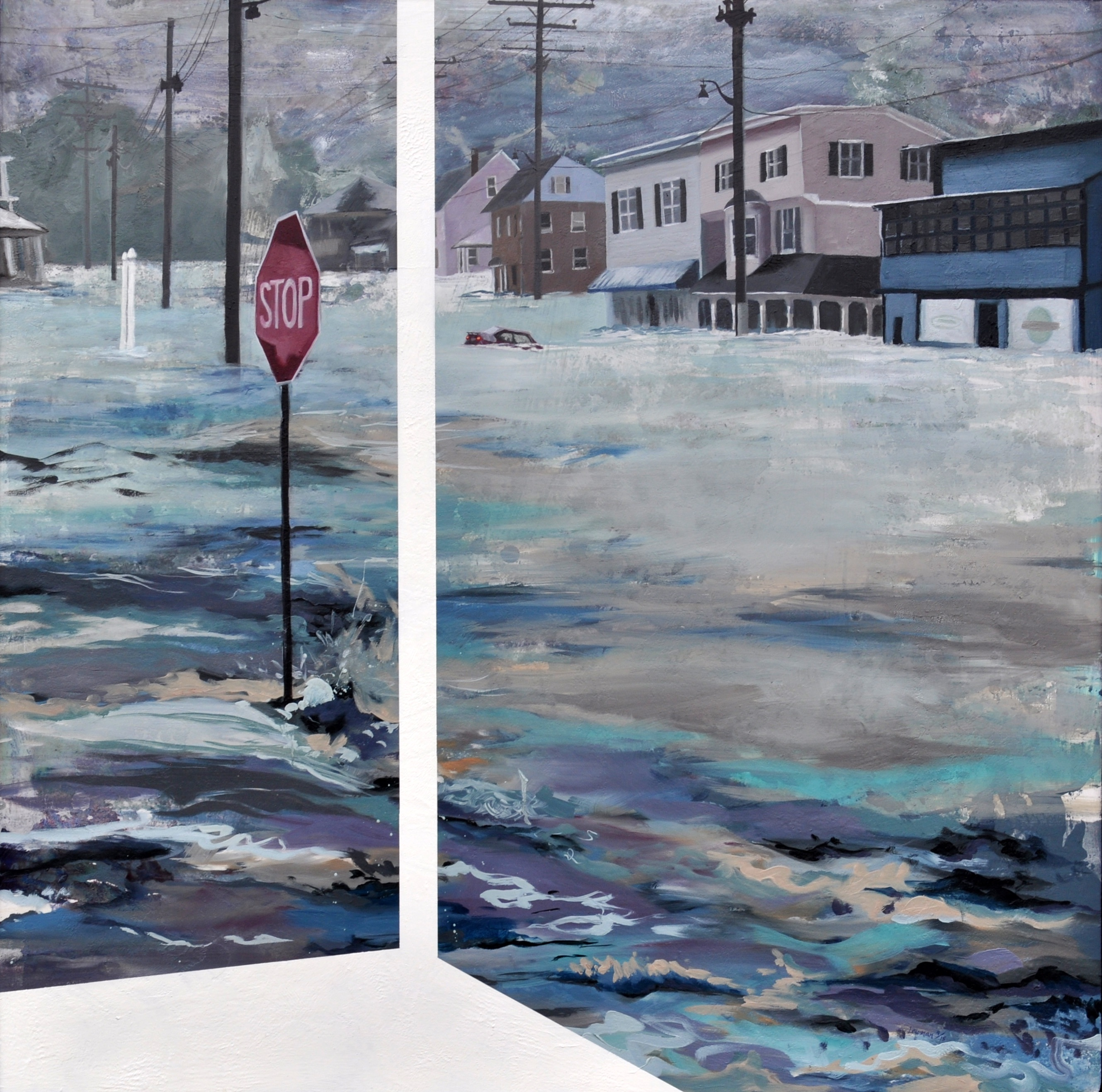 """""""Whole Town Underwater"""" by Leah Lewman"""