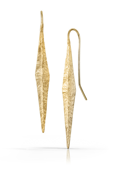 Elongated Diamond Dangle Earrings