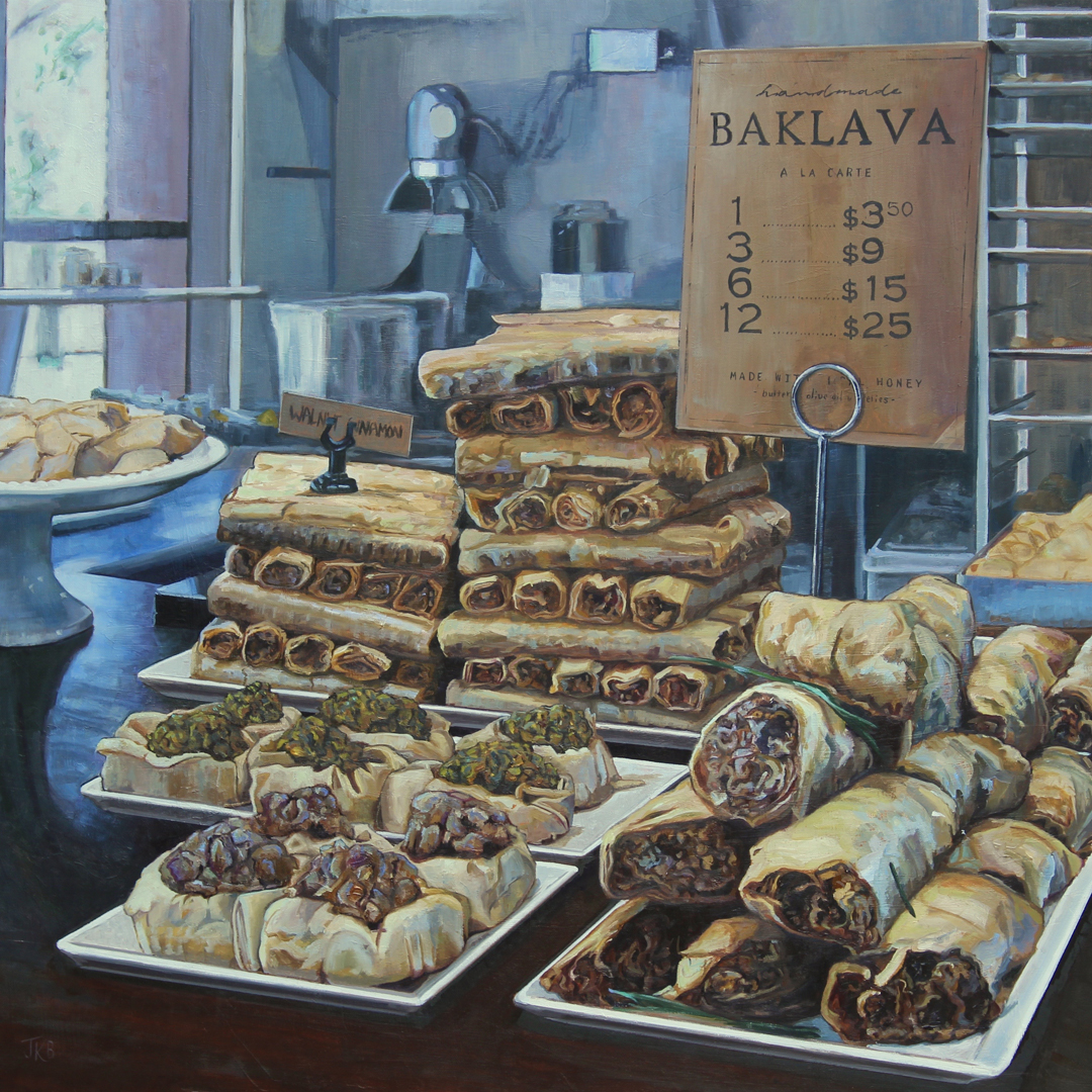 Oil painting of Baklava