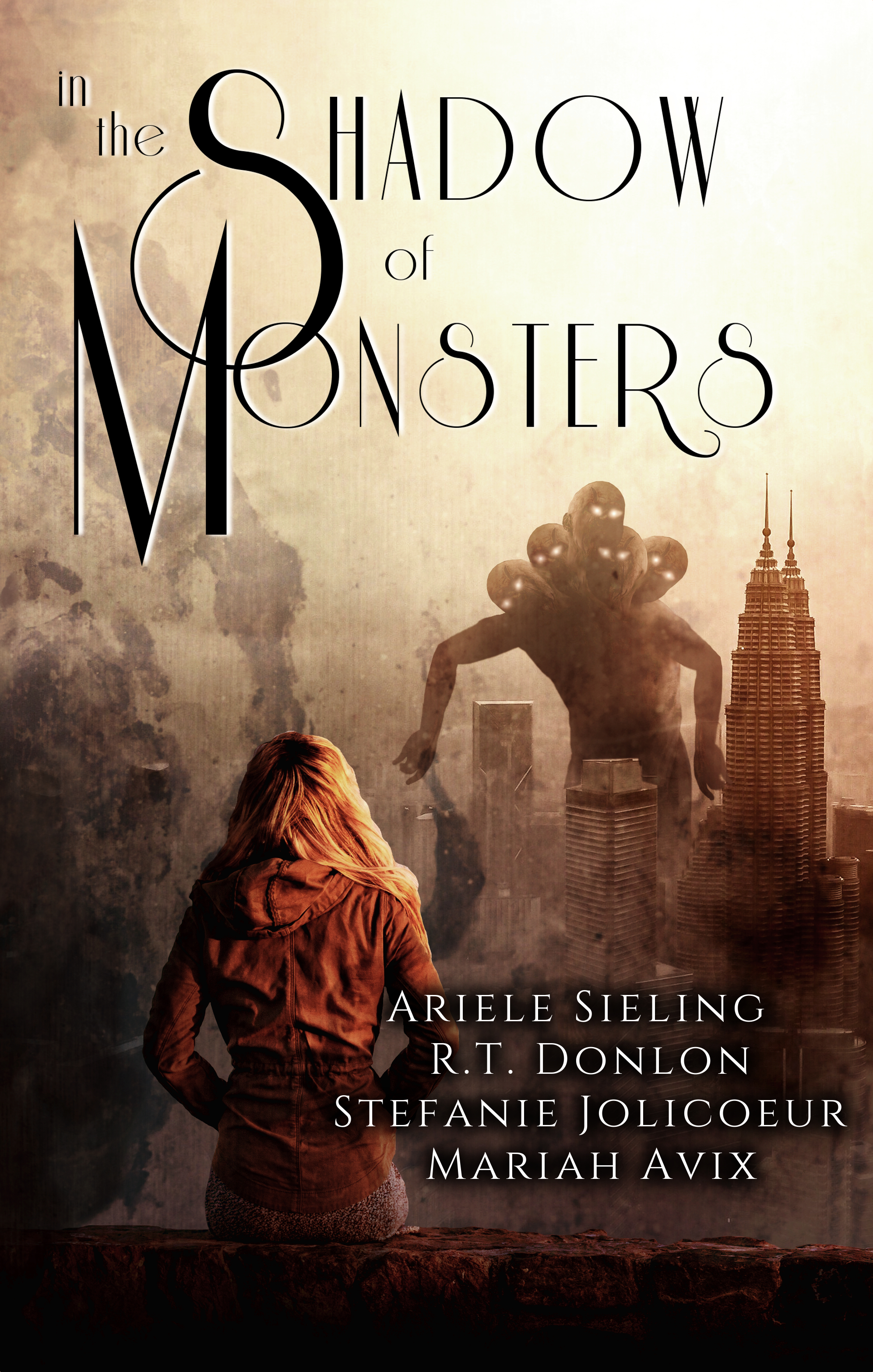 The book cover for In The Shadow of Monsters, the anthology