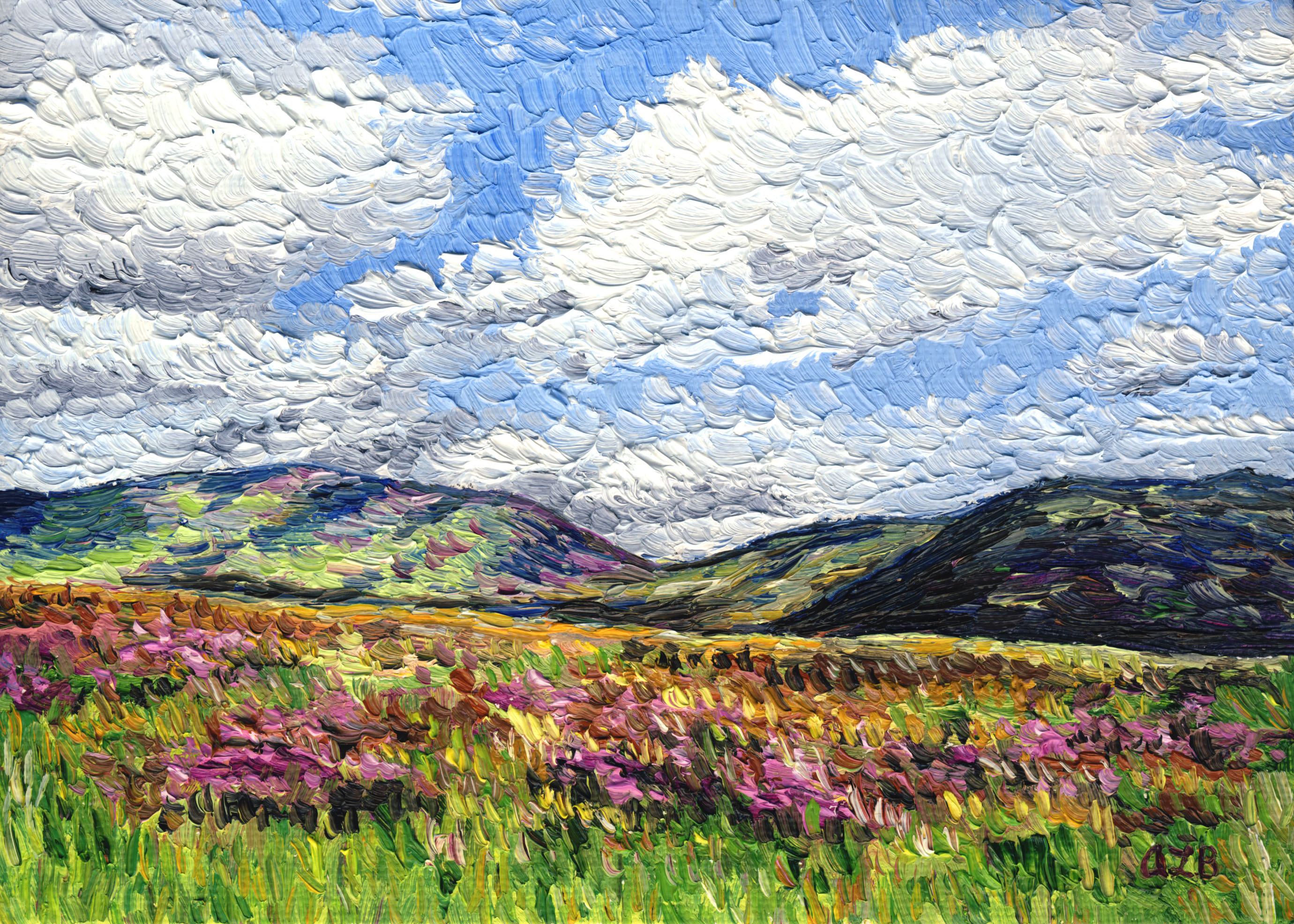 Audra Ziegel Hillside with Wildflowers