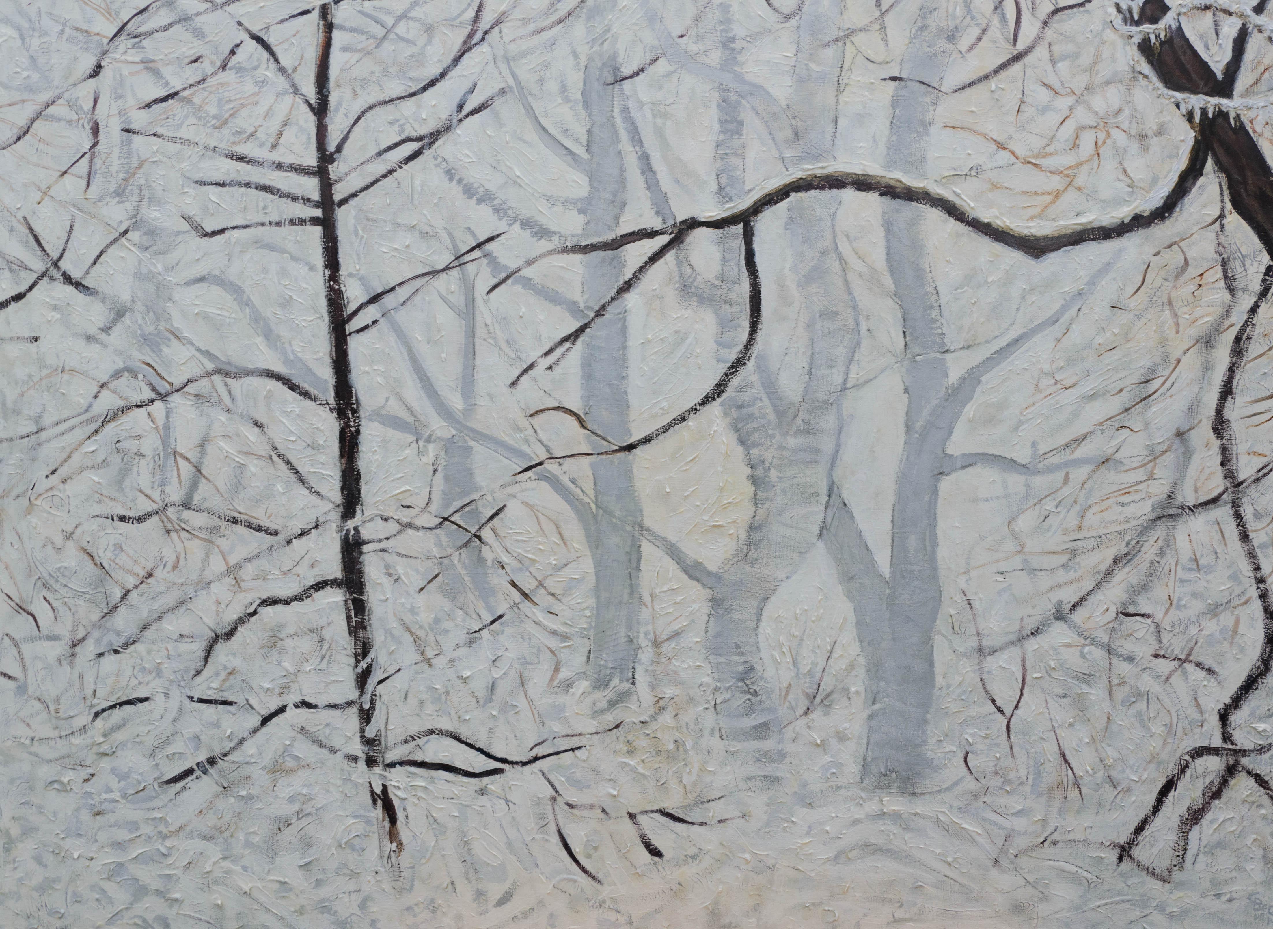 Winter Acrylic Painting Artwork Fine Art