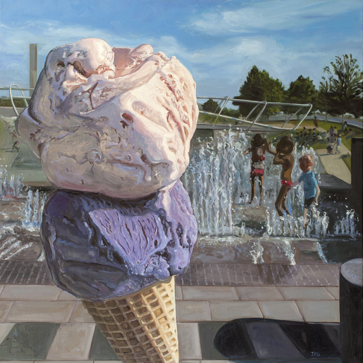 Ice cream painting, Ice cream Jubilee