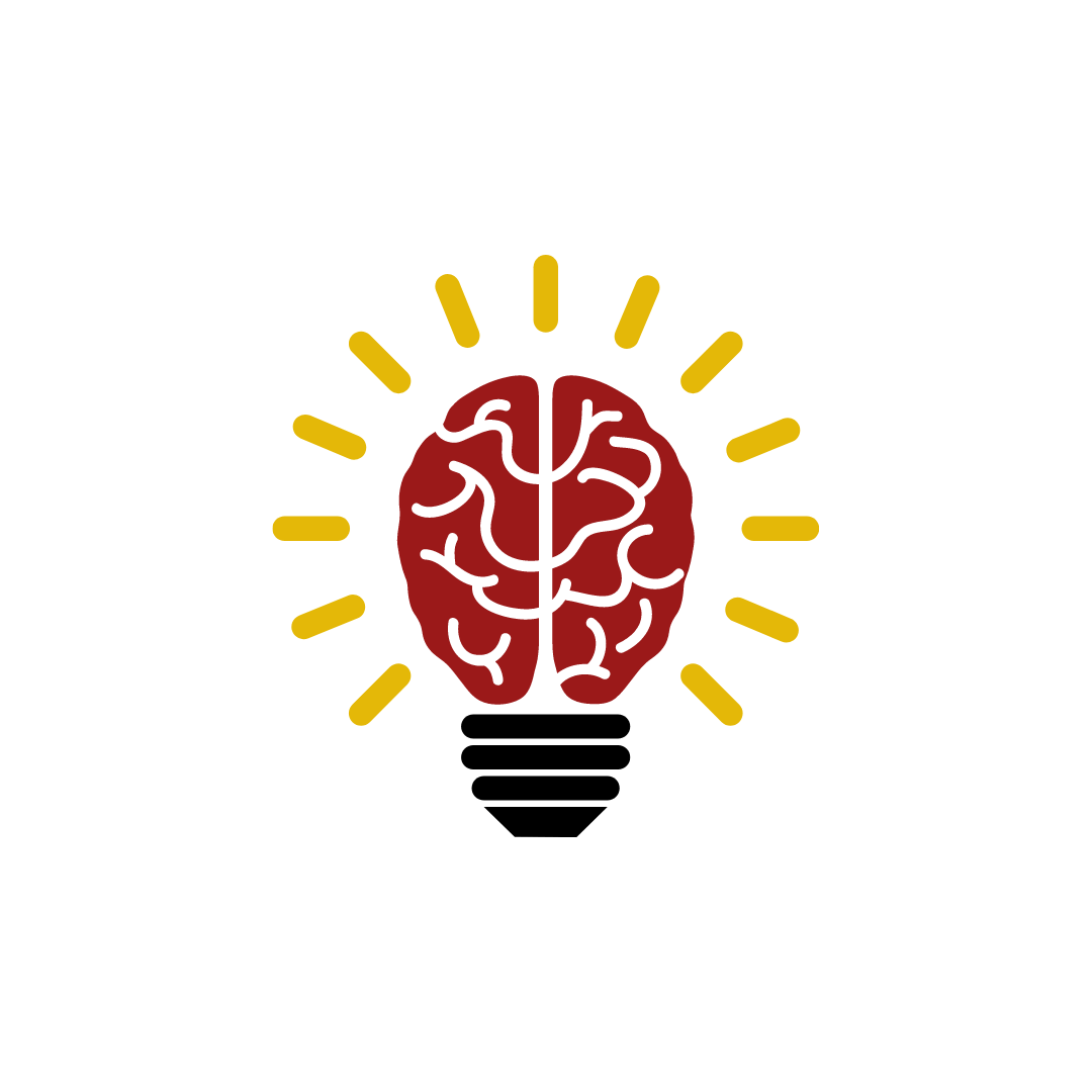 Graphic of a brain lighting up like a light bulb